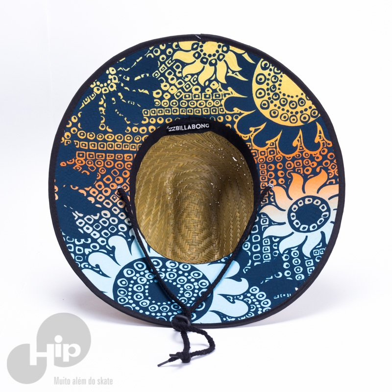Chapéu de Palha Billabong Tides Pipe Print Amarelo - Loja HIP ba966b3c9e2