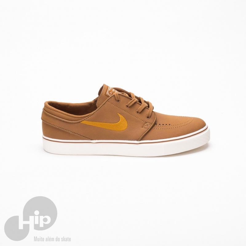 Tênis Nike Sb Stefan Janoski Couro Marrom Loja Hip