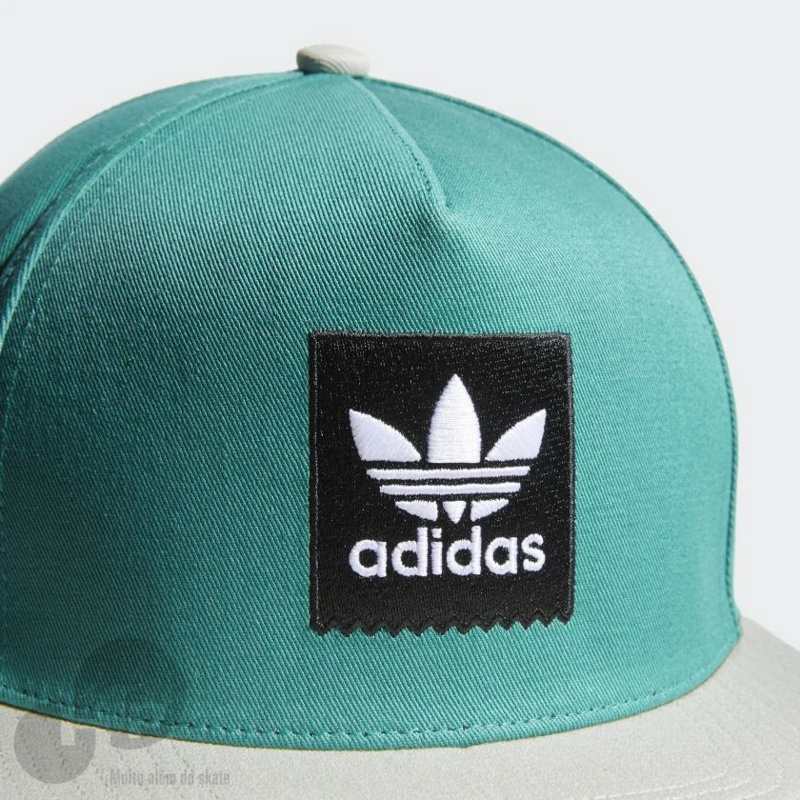 Boné Adidas Two-Tone Trefoil Snapback Verde - Loja HIP 33f6d793ba9