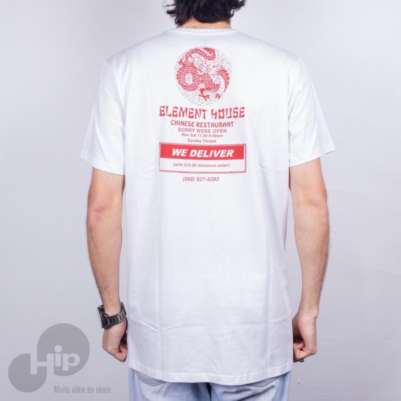 Camiseta Element Delivery Branca