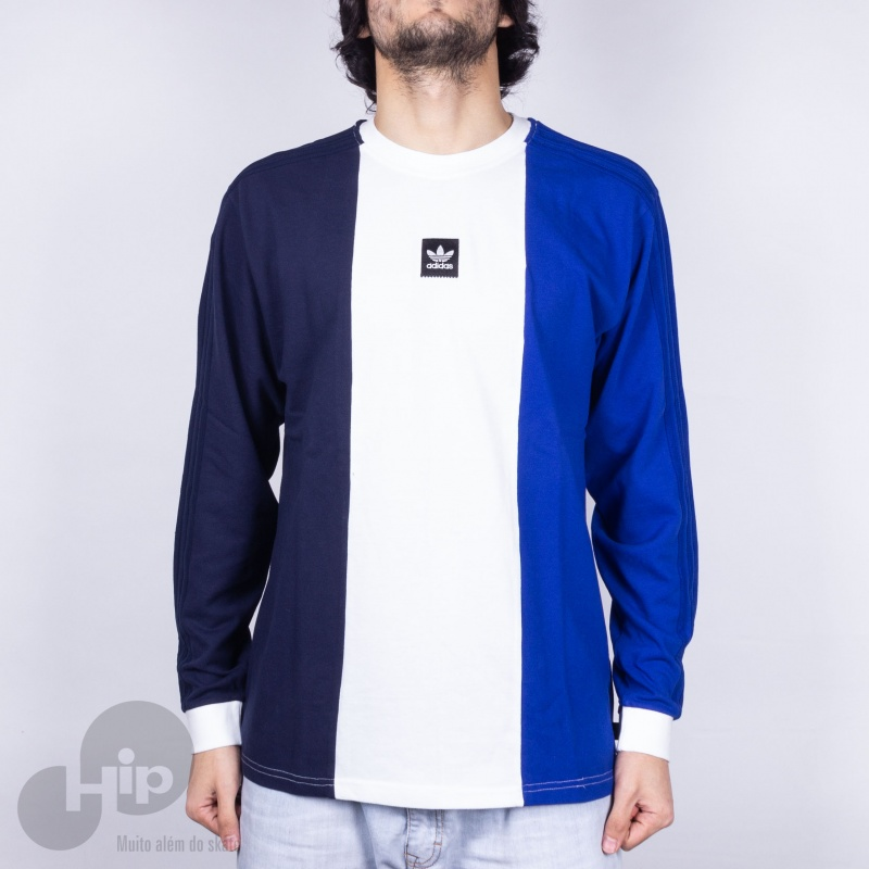llegada desnudo a la deriva  Camiseta Manga Longa Adidas Tripart Azul Escuro - Loja HIP