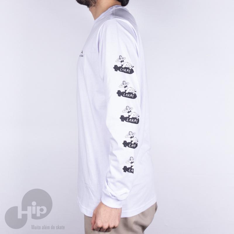 Camiseta Manga Longa Lakai Bombshell Branca