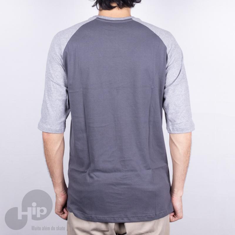 Camiseta Manga Longa Live 3/4 155 Cinza Escuro