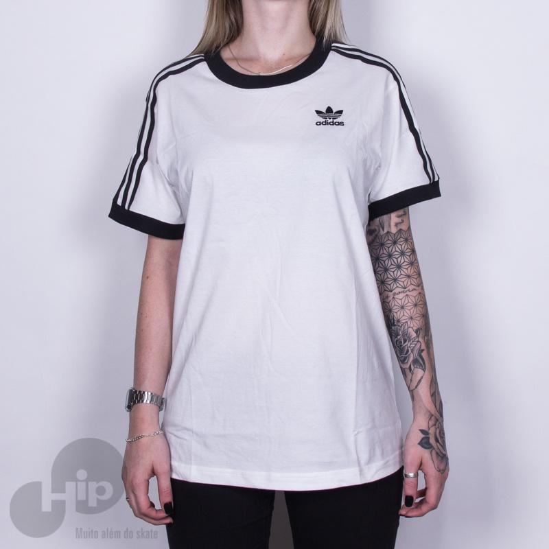 4fbefd1b4 Camiseta Adidas 3 Stripes Branca - Loja HIP