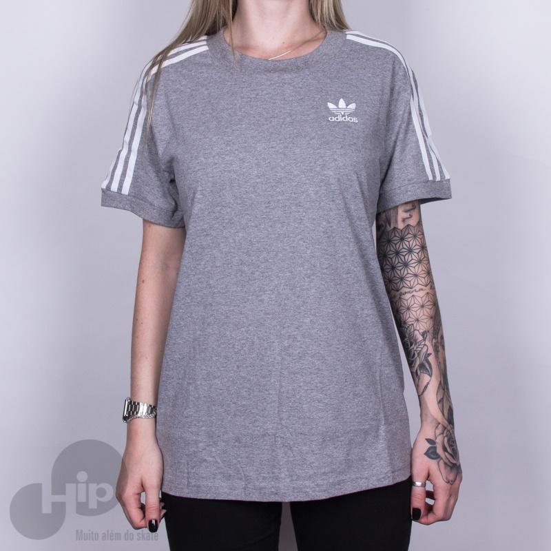 a0afa122d Camiseta Adidas 3 Stripes Cinza - Loja HIP