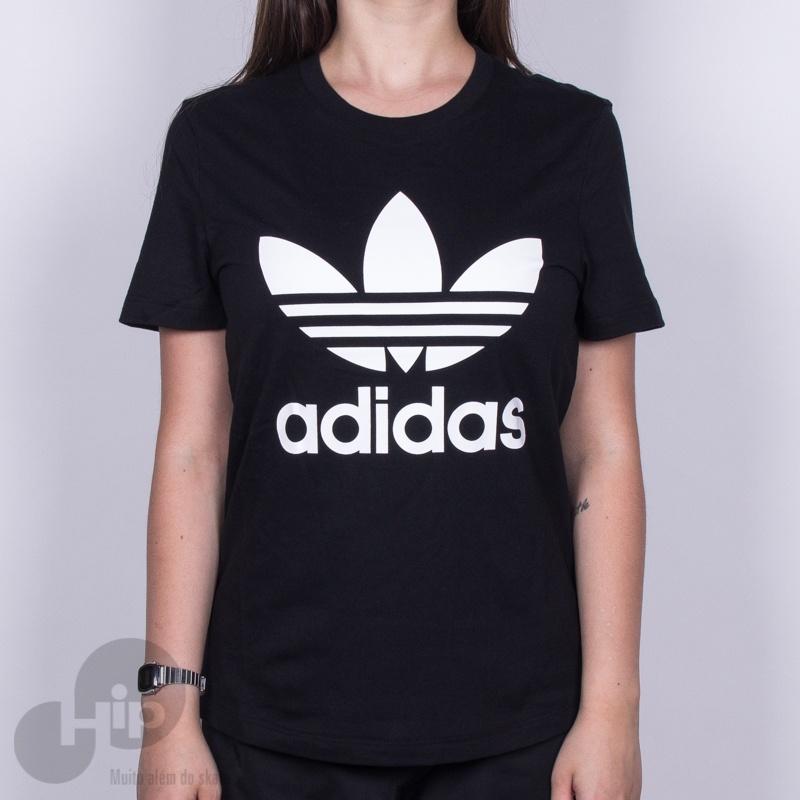708aa0b725 Camiseta Adidas Trefoil Preta - Loja HIP