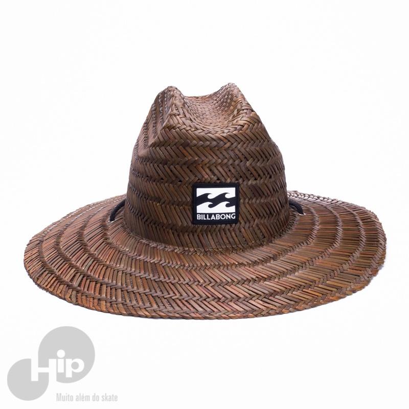 Chapéu de Palha Billabong Tides Marrom - Loja HIP d6ec552e2e5