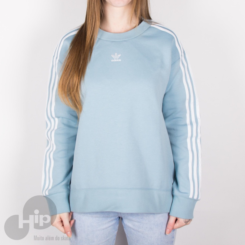 fa5b432cb5d Roupas Femininas   Moletons. Moletom Adidas Crew Azul