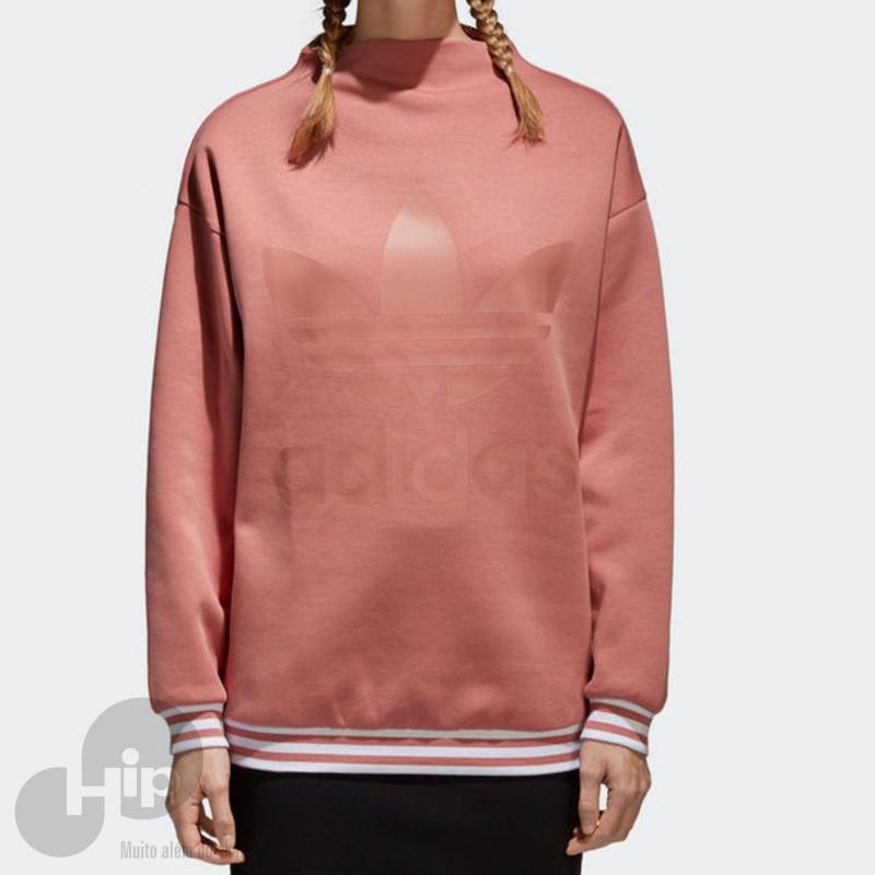 Moletom Adidas Trefoil Rosa Loja HIP