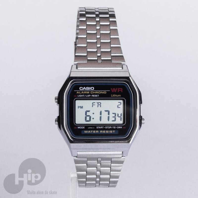 971802a06 Relógio Casio A159wa-n1df Prata - Loja HIP