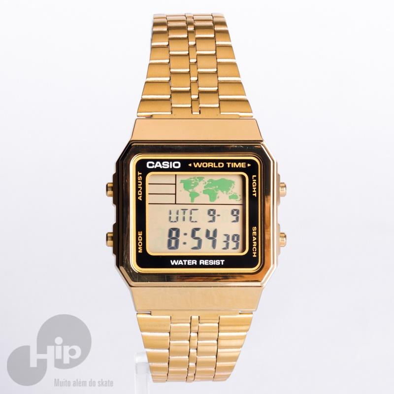 44d12d500 Relógio Casio A500wga-1df Dourado - Loja HIP