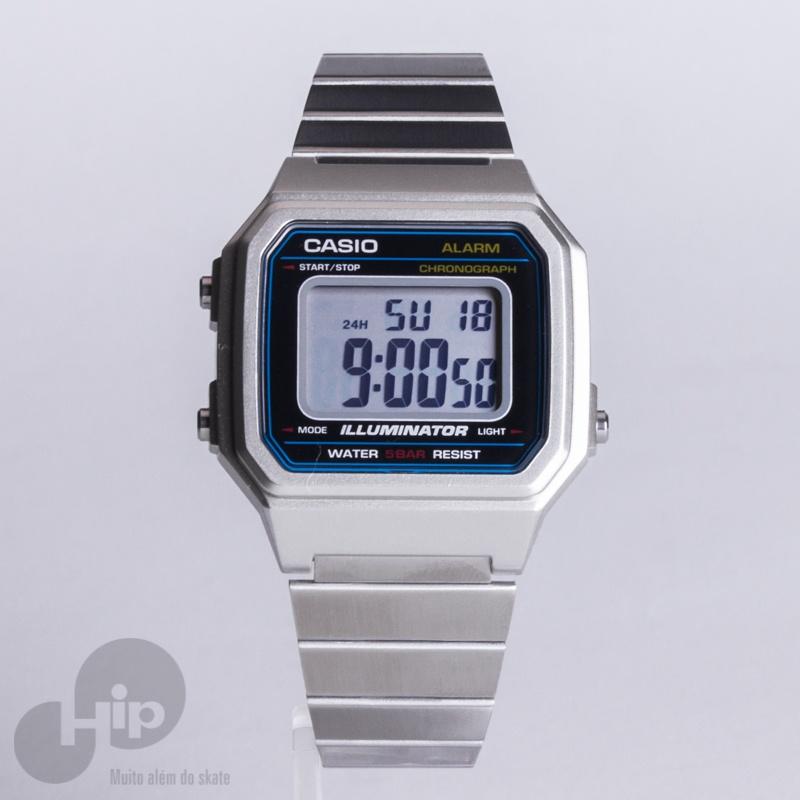 142b7b8fe Relógio Casio B650wd-1adf Prata - Loja HIP