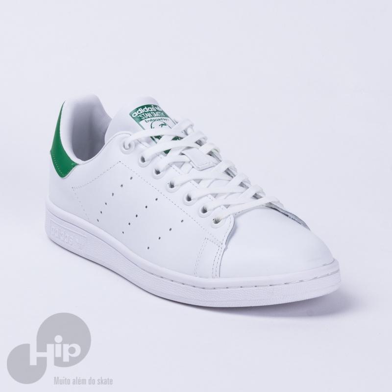 d0183491a712f Tênis Adidas Stan Smith Branco Verde - Loja HIP