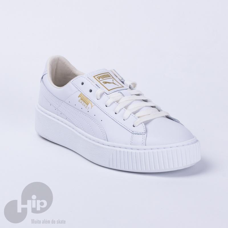 Tênis Puma Basket Platform Branco Loja HIP