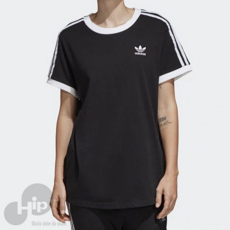 6d56574c60 Camiseta Adidas 3-Stripes Preta - Loja HIP