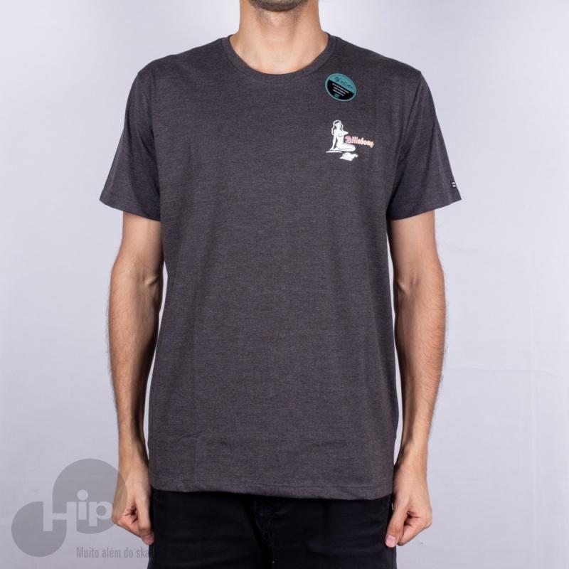 Camiseta Billabong Lousy Cinza Escuro