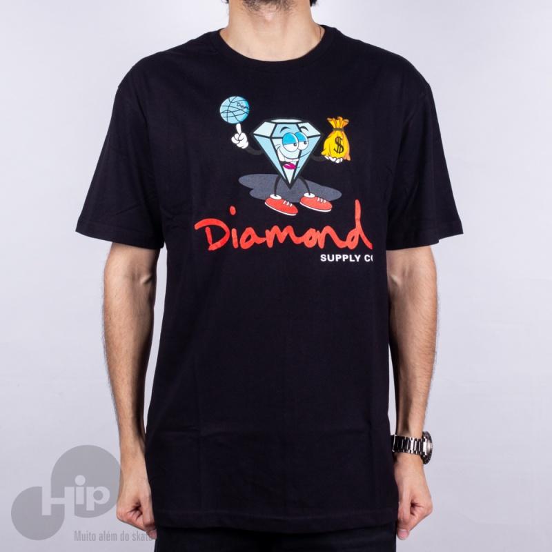 Camiseta Diamond Hoop Dreams Preta
