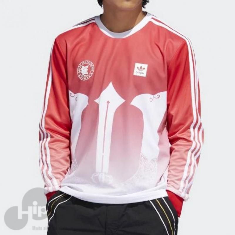 9480a733b66 Camiseta Manga Longa Adidas Evisen Vermelha - Loja HIP