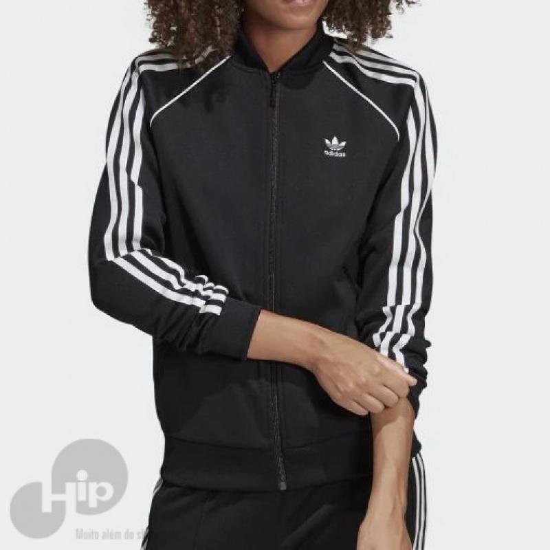4a9aa055f49 Jaqueta Adidas SST Preta - Loja HIP