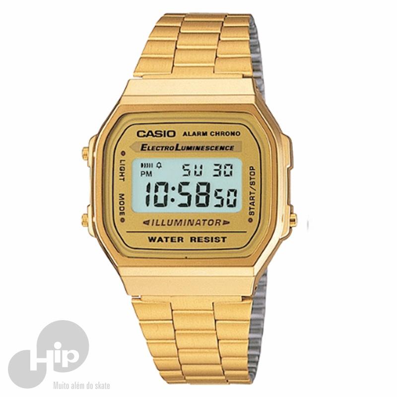 140ae0dab Relógio Casio A168Wg-9Wdf Dourado - Loja HIP