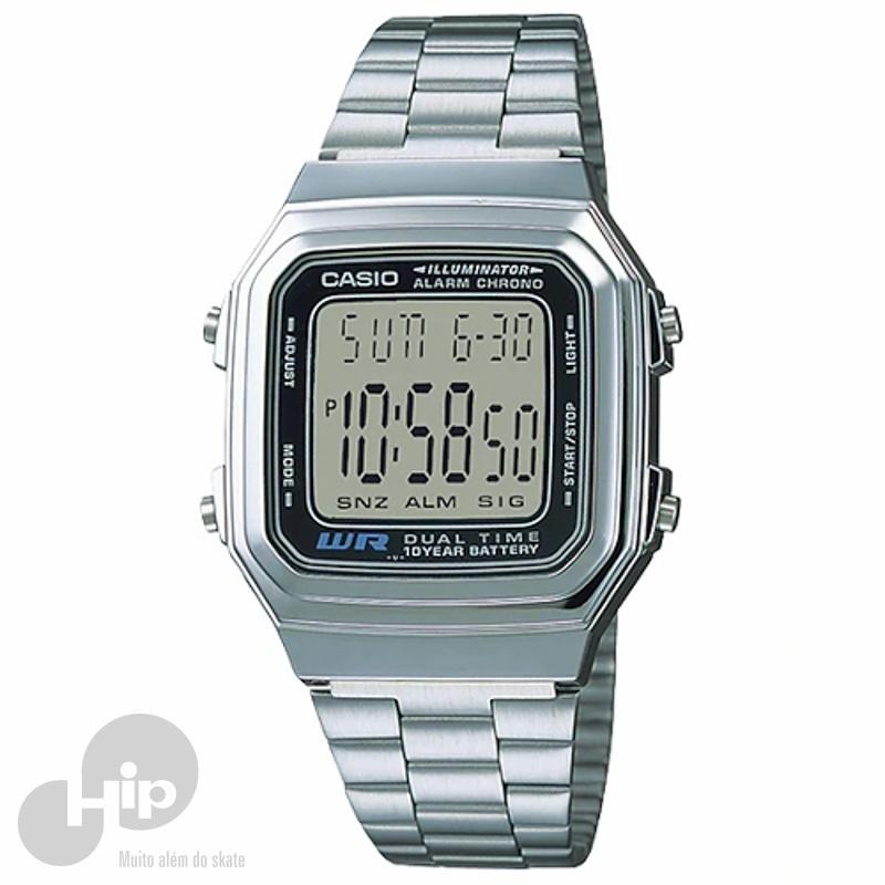 d2471e203 Relógio Casio A178Wa-1Adf Prata - Loja HIP