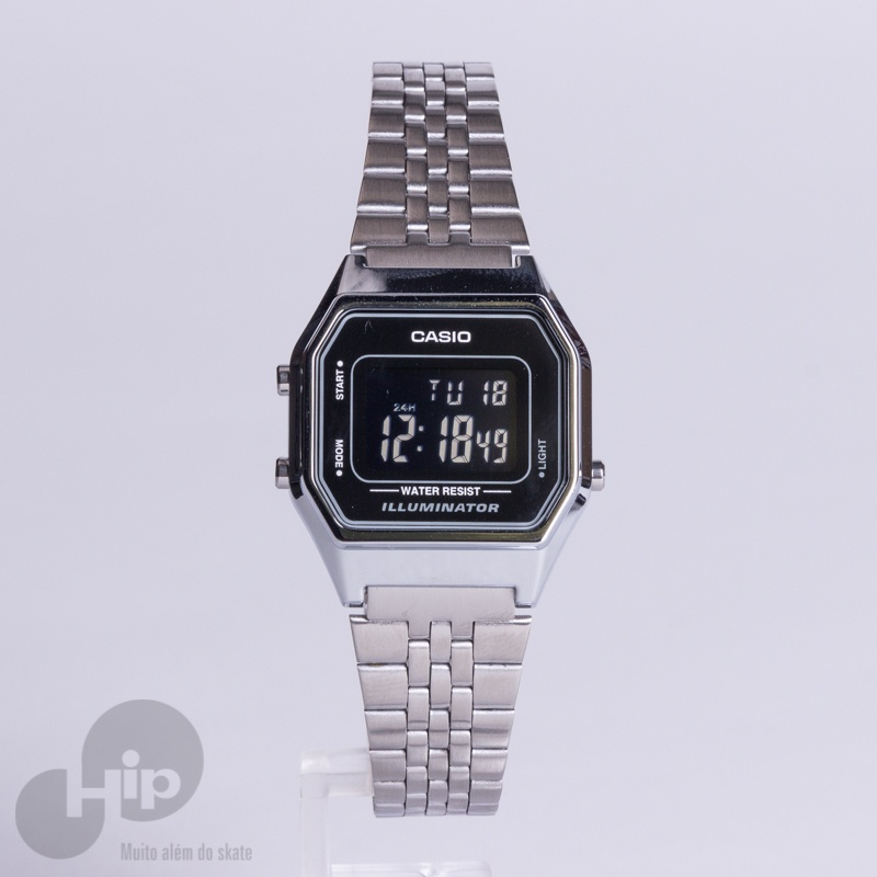 54e91b305 Relógio Casio La680Wa-1Bdf Prata - Loja HIP