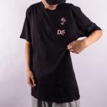 Camiseta Dc Shoes Rose Pocket Preto