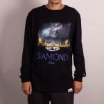 Camiseta Manga Longa Diamond Louvre Preto