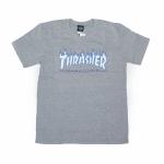 Camiseta Thrasher Flame Logo Sky Cinza Claro
