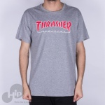 Camiseta Thrasher Outlined Cinza Claro