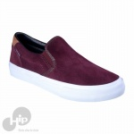 Tênis Mary Jane Slip On Suede Vinho