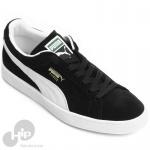 Tênis Puma Suede Classic Preto e Branco