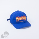 Boné Thrasher Dad Hat Flame Azul