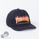 Boné Thrasher Dad Hat Flame Preto