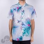 Camisa Billabong Sundays Floral Cinza Claro