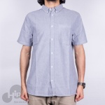 Camisa Dc Shoes The Oxford 2 Ss Cinza Claro