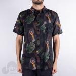 Camisa New Era Botany Jungle Fauna Preta