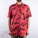 Camisa Volcom Floral Erupter Vermelha