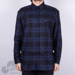 Camisa Volcom Plaid Enough Azul Escuro