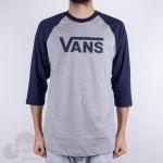 Camiseta 3/4 Vans Classic Raglan Cinza Claro
