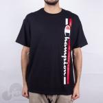 Camiseta Champion Vertical Logo Preta