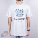Camiseta Diamond Asscher Cut Branca