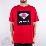Camiseta Diamond Lotus Box Vermelha