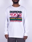 Camiseta Diamond Manga Longa Nineties Branca