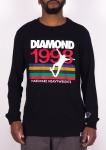 Camiseta Diamond Manga Longa Nineties Preta