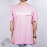 Camiseta Diamond Og Script Rosa