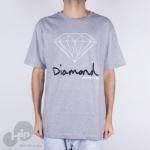 Camiseta Diamond Og Sign Cinza Claro