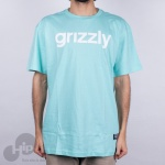 Camiseta Grizzly Lowercase Logo Azul Claro