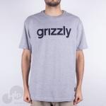 Camiseta Grizzly Lowercase Logo Cinza Claro