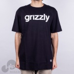 Camiseta Grizzly Lowercase Logo Large Preta